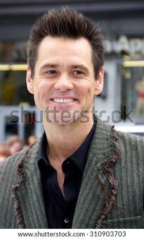 HOLLYWOOD, CA - JUNE 12, 2011: Jim Carrey at the Los Angeles premiere of 'Mr. Popper's Penguins' held at the Grauman's Chinese Theatre in Hollywood, USA on June 12, 2011.