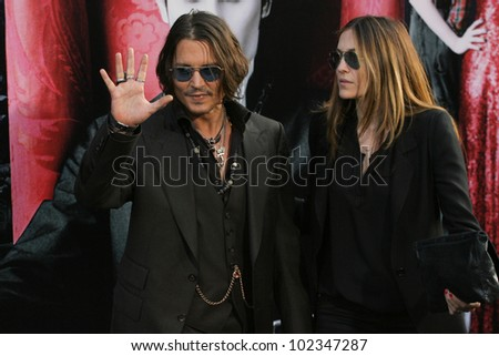HOLLYWOOD, CA. - MAY 7: Johnny Depp arrives at Warner Bros. Pictures World Premiere of 'Dark Shadows' on May 7, 2012 at Graumans Chinese Theatre in Hollywood, Ca.