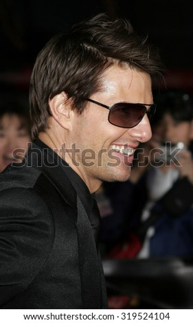 HOLLYWOOD, CA - MAY 04, 2006: Tom Cruise at the Los Angeles premiere of 'Mission: Impossible 3' held at the Grauman's Chinese Theatre in Hollywood, USA on May 4, 2006. - stock photo
