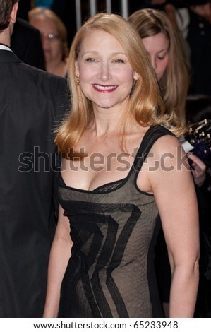 HOLLYWOOD, CA - NOVEMBER 15: Actress Patricia Clarkson arriving to the premiere of the movie Burlesque at the Grauman's Chinese Theater, on November 15, 2010 in Los Angeles, CA