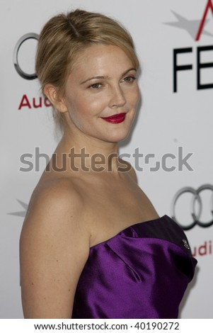 HOLLYWOOD, CA. - NOVEMBER 3: Drew Barrymore attends the AFI Fest premier of Everybody's Fine at The Grauman's Chinese Theater on November 3, 2009 in Hollywood. - stock photo