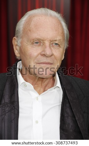 HOLLYWOOD, CA  - NOVEMBER 12, 2011. Sir Anthony Hopkins at the World premiere of 'The Muppets' held at El Capitan Theater in Hollywood, USA on November 12, 2011.