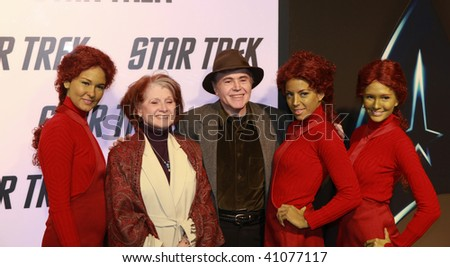 HOLLYWOOD, CA - NOVEMBER 16: Walter Koenig, his wife & the green girls attend the debut of J.J. Abrams Star Trek DVD  at the Griffith Observatory on November 16, 2009 in Hollywood,California