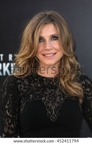 Hollywood, CA, USA; April 13, 2013; Sarah Chalke arrives to the premiere of Star Trek Into Darkness held at the Dolby Theater in Hollywood, California. - stock photo