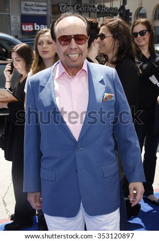 "HOLLYWOOD, CALIFORNIA - April 10, 2011. Sergio Mendes at the Los Angeles premiere of ""Rio"" held at the Grauman's Chinese Theater in Los Angeles."