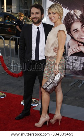 "HOLLYWOOD, CALIFORNIA - August 23, 2010. Charlie Day and Mary Elizabeth Ellis at the Los Angeles premiere of ""Going The Distance"" held at the Grauman's Chinese Theater, Los Angeles."