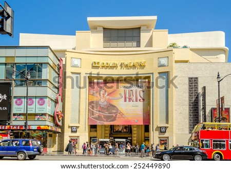 HOLLYWOOD, CALIFORNIA - AUGUST 26, 2012: Dolby Theatre (aka Kodak Theatre) is home of the Academy Awards (aka Oscars) as seen in Los Angeles (Hollywood) on August 26, 2012. - stock photo