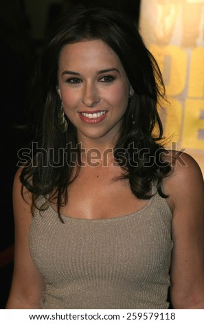 "HOLLYWOOD, CALIFORNIA. August 23, 2005. Lacey Chabert at the World Premiere of ""Dirty Deeds"" at the Directors Guild of America in Hollywood, California , United States."