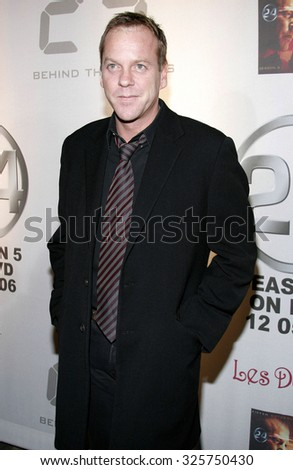 HOLLYWOOD, CALIFORNIA.December 4, 2006. Kiefer Sutherland attends the '24' Season Five DVD Release held at the Les Deux in Hollywood, California United States.