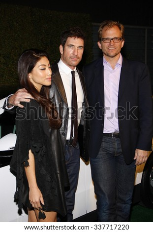 HOLLYWOOD, CALIFORNIA - February 22, 2012. Matt Petersen, Shasi Wells and Dylan McDermott at the Global Green USA's 9th Annual Pre-Oscar Party held at the Avalon Hollywood, Los Angeles. - stock photo