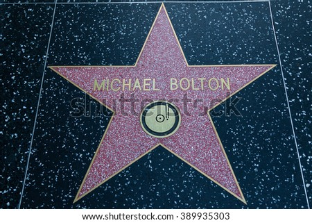 HOLLYWOOD, CALIFORNIA - February 8 2015: Michael Bolton's Hollywood Walk of Fame star on February 8, 2015 in Hollywood, CA.