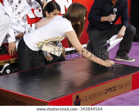 HOLLYWOOD, CALIFORNIA - January 26, 2012. Paris Jackson at the Michael Jackson Hand And Footprint Ceremony held at the Grauman's Chinese Theatre, Los Angeles.