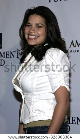 "HOLLYWOOD, CALIFORNIA - June 11, 2005. America Ferrera attends at the 19th Annual Fulfillment Fund ""Achievement Awards"" at the Kodak Theatre in Hollywood, California."