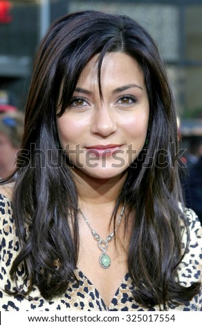 "HOLLYWOOD, CALIFORNIA - June 27 2005. Marisol Nichols attends at the ""War of the Worlds"" Fan Screening at the Chinese Theater in Hollywood."