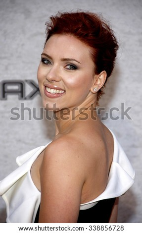 "HOLLYWOOD, CALIFORNIA - June 6, 2011. Scarlett Johansson at the Spike TV's 5th Annual 2011 ""Guys Choice"" Awards held at the Sony Pictures Studios, Los Angeles. - stock photo"