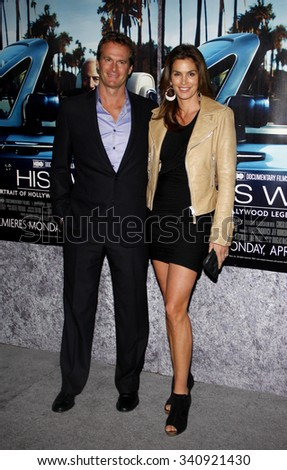 "HOLLYWOOD, CALIFORNIA - March 22, 2011. Cindy Crawford and Rande Gerber at the Los Angeles premiere of ""His Way"" held at the Paramount Studios, Los Angeles."