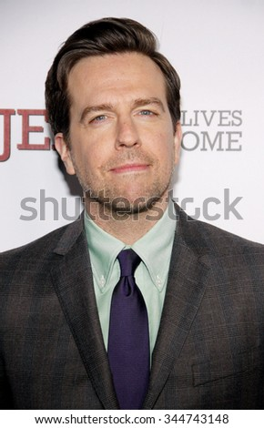 "HOLLYWOOD, CALIFORNIA - March 7, 2012. Ed Helms at the Los Angeles premiere of ""Jeff, Who Lives At Home"" held at the DGA Theatre, Los Angeles."