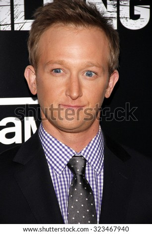 HOLLYWOOD, CALIFORNIA - March 26, 2012. Eric Ladin at the Los Angeles Season 2 premiere of AMC's 'The Killing' held at the ArcLight Cinemas in Hollywood. - stock photo