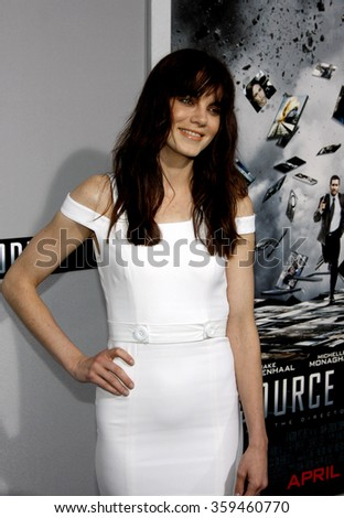 "HOLLYWOOD, CALIFORNIA - March 28, 2011. Michelle Monaghan at the Los Angeles premiere of ""Source Code"" held at the Arclight Cinemas Los Angeles."