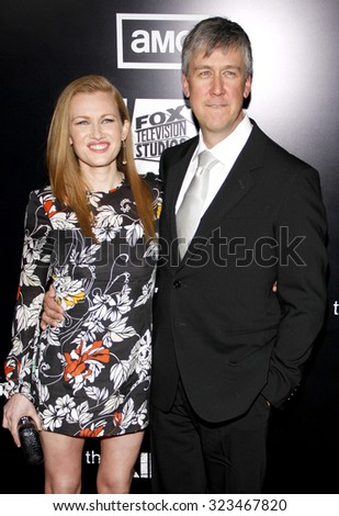 HOLLYWOOD, CALIFORNIA - March 26, 2012. Mireille Enos and Alan Ruck at the Los Angeles Season 2 premiere of AMC's 'The Killing' held at the ArcLight Cinemas in Hollywood. - stock photo
