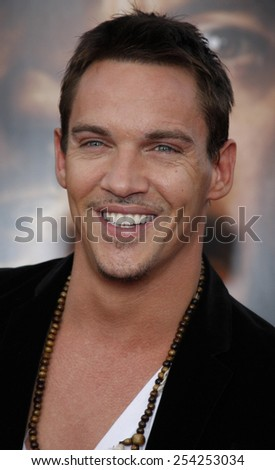 """HOLLYWOOD, CALIFORNIA - Monday April 20, 2009. Jonathan Rhys Meyers at the Los Angeles premiere of the """"The Soloist"""" held at the Paramount Pictures Studio Lot, Hollywood.  - stock photo"""