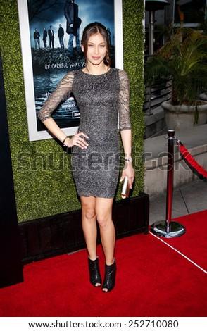 HOLLYWOOD, CALIFORNIA - Monday March 26, 2012. Dayana Mendoza at the Los Angeles Season 2 premiere of AMC's 'The Killing' held at the ArcLight Cinemas, Los Angeles.  - stock photo