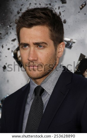 "HOLLYWOOD, CALIFORNIA - Monday March 28, 2011. Jake Gyllenhaal at the Los Angeles premiere of ""Source Code"" held at the Arclight Cinemas Los Angeles.  - stock photo"