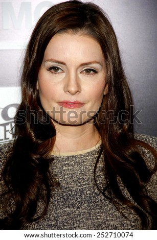 HOLLYWOOD, CALIFORNIA - Monday March 26, 2012. Jamie Anne Allman at the Los Angeles Season 2 premiere of AMC's 'The Killing' held at the ArcLight Cinemas, Los Angeles.  - stock photo