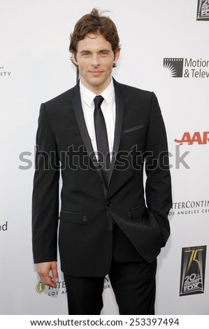 """HOLLYWOOD, CALIFORNIA - Monday May 1, 2010. James Marsden at the 5th Annual """"A Fine Romance"""" Benefit held at the Fox Studio Lot, Hollywood.  - stock photo"""