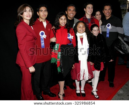 HOLLYWOOD, CALIFORNIA. November 27, 2005. Antonio Villaraigosa and his family attend the 2005 Hollywood Christmas Parade at the Hollywood Roosevelt Hotel in Hollywood, California United States.