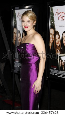 """HOLLYWOOD, CALIFORNIA - November 3, 2009. Drew Barrymore at the AFI FEST 2009 Screening of """"Everybody's Fine"""" held at the Grauman's Chinese Theater, Hollywood, Los Angeles.   - stock photo"""