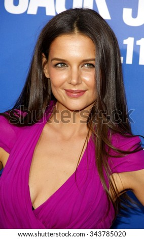 "HOLLYWOOD, CALIFORNIA - November 6, 2011. Katie Holmes at the World Premiere of ""Jack and Jill"" held at Regency Village Theater, Los Angeles."