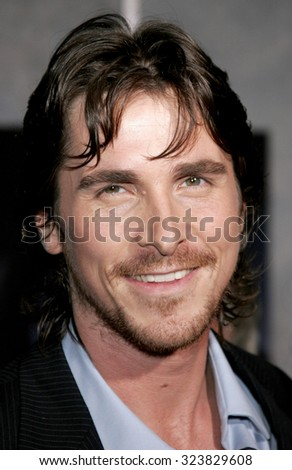 HOLLYWOOD, CALIFORNIA. October 17, 2006. Christian Bale at the World premiere of 'The Prestige' held at the El Capitan Theatre in Hollywood, USA on October 17, 2006.