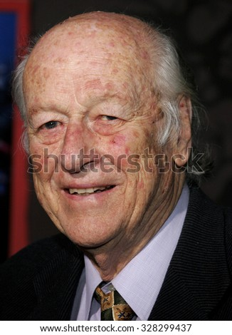 "HOLLYWOOD, CALIFORNIA. October 16, 2006. Ray Harryhausen attends the World Premiere of ""The Nightmare Before Christmas 3D"" held at the El Capitan Theatre in Hollywood, California United States."