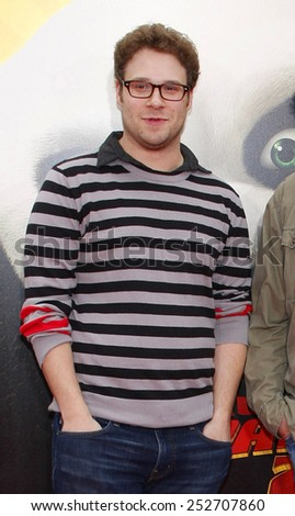 "HOLLYWOOD, CALIFORNIA - Sunday May 22, 2011. Seth Rogen at the Los Angeles premiere of ""Kung Fu Panda 2"" held at the Grauman's Chinese Theater, Los Angeles. - stock photo"