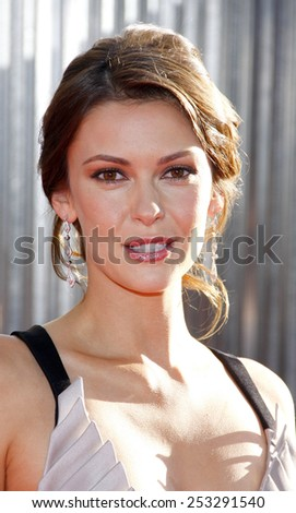 """HOLLYWOOD, CALIFORNIA - Sunday October 2, 2011. Olga Fonda at the Los Angeles premiere of """"Real Steel"""" held at the Gibson Amphitheatre, Los Angeles.  - stock photo"""