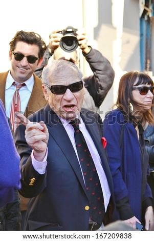HOLLYWOOD-DECEMBER 13, 2013: Comedian/director Mel Brooks attends Hollywood Walk of Fame ceremony for writing partner Paul Mazursky December 13, 2013. - stock photo