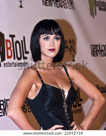 HOLLYWOOD - DECEMBER 31: Singer KATY PERRY attends Gridlock New Year's Eve at Paramount Studios on December 31, 2008 in Hollywood, California. - stock photo
