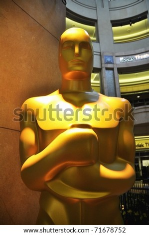 HOLLYWOOD - FEBRUARY 21: Preparations begin for the 83rd annual Academy Awards to be held on Sunday February 27. February 21, 2011, Hollywood California. - stock photo