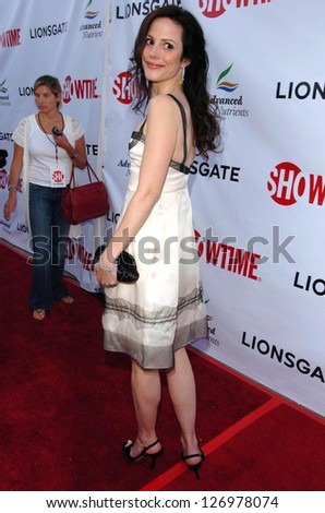 "HOLLYWOOD - JULY 19: Mary-Louise Parker at the season two premiere of ""Weeds"" at Egyptian Theatre on July 19, 2006 in Hollywood, CA."