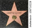 HOLLYWOOD - JUNE 24: Harold Lloyds star on Hollywood Walk of Fame on June 24, 2012 in Hollywood, California. This star is located on Hollywood Blvd. and is one of 2400 celebrity stars. - stock photo