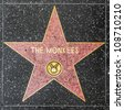 HOLLYWOOD - JUNE 24: The Monkees star on Hollywood Walk of Fame on June 24, 2012 in Hollywood, California. This star is located on Hollywood Blvd. and is one of 2400 celebrity stars. - stock photo