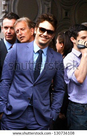 HOLLYWOOD - MARCH 7: Actor James Franco attends Walk of Fame ceremony where he received a star March 7, 2013 Hollywood, CA. - stock photo