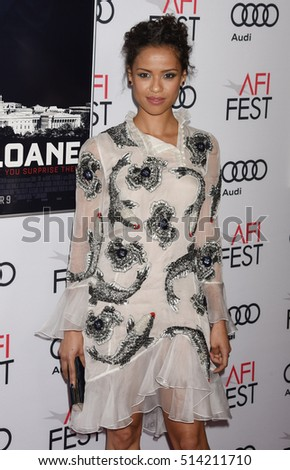 "HOLLYWOOD - NOV 11:  Gugu Mbatha-Raw arrives to the AFI FEST 2016 ""Miss Sloane"" World Premiere Special Screening  on November 11, 2016 in Hollywood, CA"