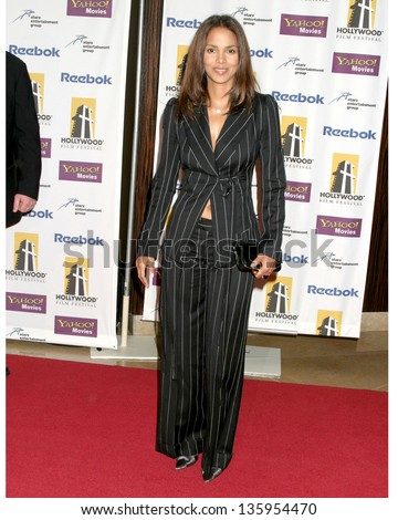 HOLLYWOOD - OCTOBER 24: Halle Berry participates at Hollywood Film Festival Gala in Beverly Hilton Hotel October 24, 2005 in Los Angeles, CA. - stock photo