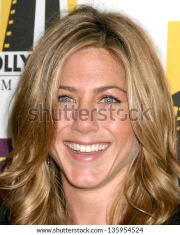 HOLLYWOOD - OCTOBER 24: Jennifer Aniston participates at Hollywood Film Festival Gala in Beverly Hilton Hotel October 24, 2005 in Los Angeles, CA. - stock photo