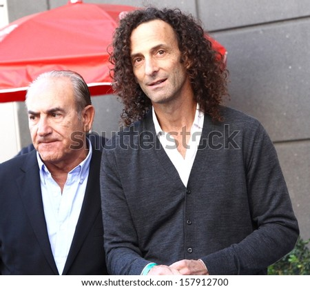 "HOLLYWOOD-OCTOBER 10, 2013:Kenny G attends Hollywood Walk of Fame ceremony for Kenneth ""Babyface"" Edmonds October 10, 2013 Hollywood, CA. - stock photo"