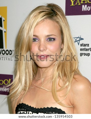 HOLLYWOOD - OCTOBER 24: Rachel McAdams participates at Hollywood Film Festival Gala in Beverly Hilton Hotel October 24, 2005 in Los Angeles, CA.