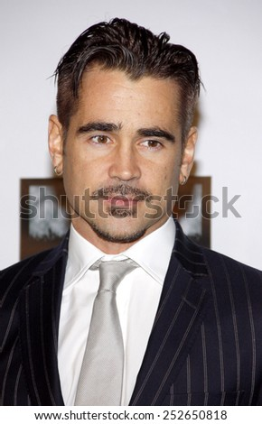 """HOLLYWOOD, USA - FEBRUARY 23: Colin Farrell at the 7th Annual """"Oscar Wilde: Honoring The Irish In Film"""" Pre-Academy Awards Event held at the Bad Robot in Los Angeles, USA on February 23, 2012. - stock photo"""