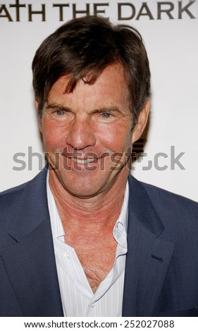 "HOLLYWOOD, USA - JANUARY 4: Dennis Quaid at the Los Angeles Premiere of ""Beneath The Darkness"" held at the Egyptian Theatre in Los Angeles, USA on January 4, 2012."